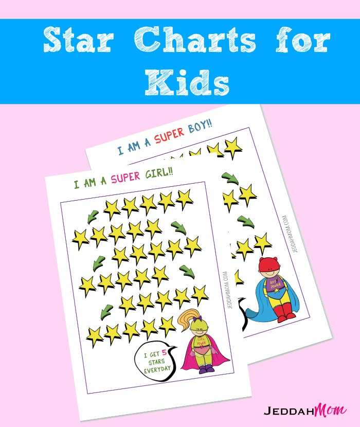 photo about Star Reward Chart Printable referred to as Printable Tremendous Hero Star Chart for Little ones