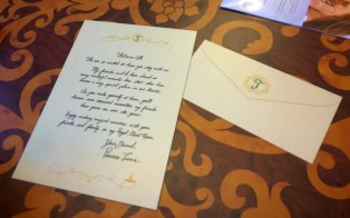 Welcome letter from Princess Tiana