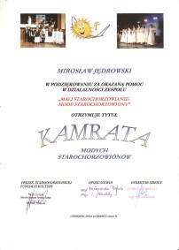 Podziękowania Kamrat Starochorzowianin 2010