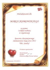 Koncert Charytatywny Serce Dla Sandry 2012