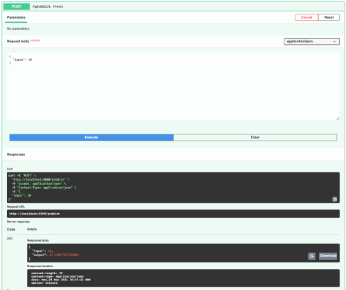 """""""Try it out"""" interaction with FastAPI docs"""