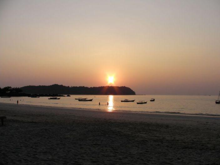 Zachód słońca zepsuty przez półwysep