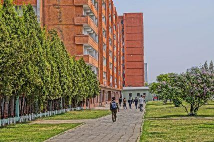 Pjongjang - budynek mieszkalny