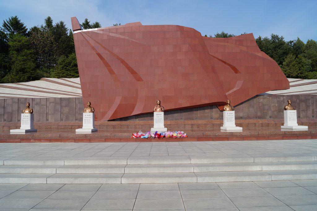 Pjongjang - Cmentarz Męczenników Rewolucji