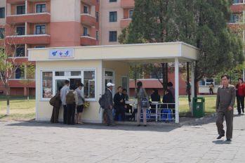 Pjongjang - kiosk z żywnością