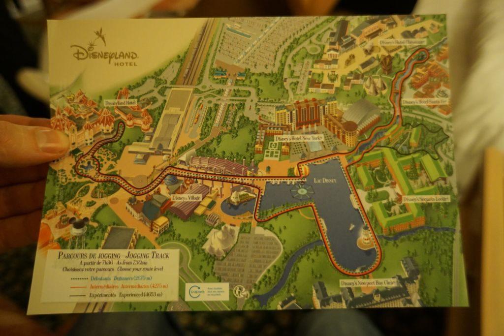 Disneyland Hotel - plan ścieżek biegowych