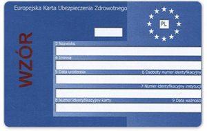 Europejska Karta Ubezpieczenia Zdrowotnego - wzór