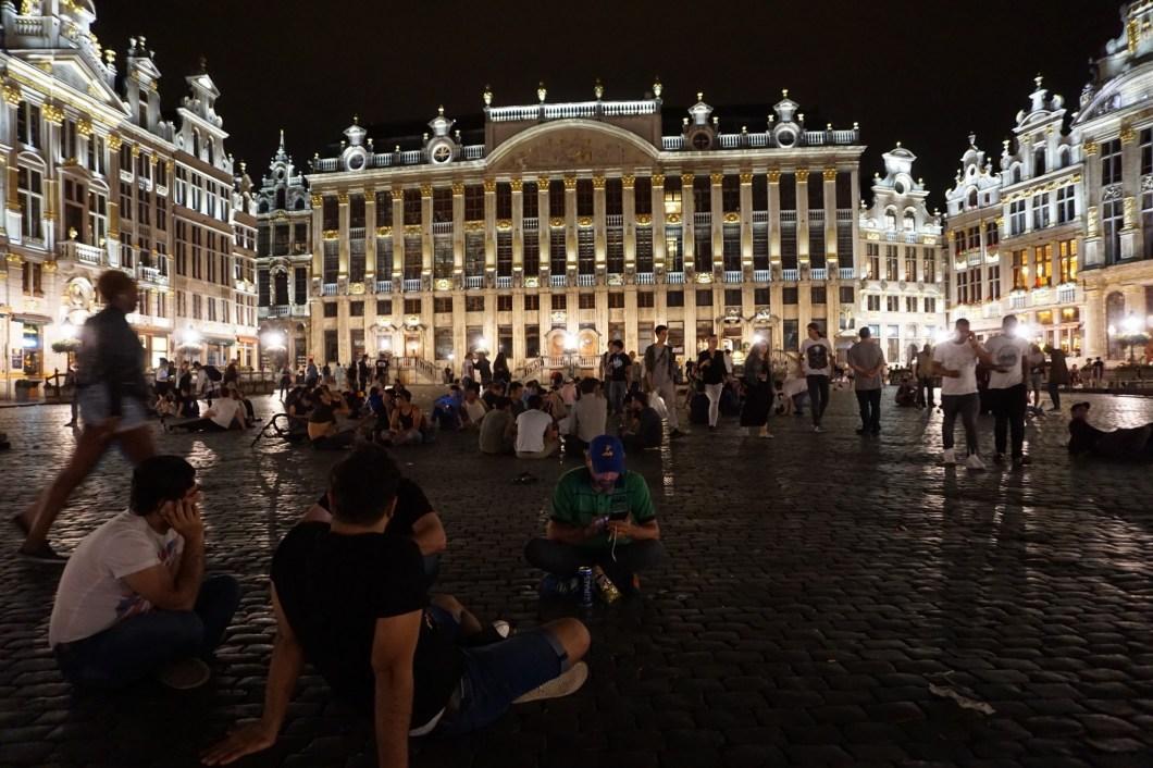 Bruksela - Wielki Plac wieczorem