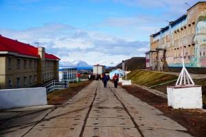 Barentsburg - główna ulica