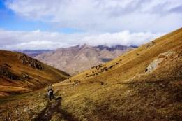 Widok na kirgiską grań