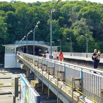 Kijów - stacja metra Dnipro