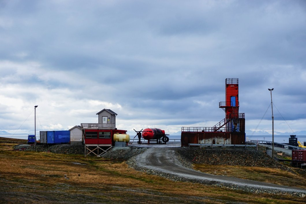 Okolice Longyearbyen - poligon strażacki