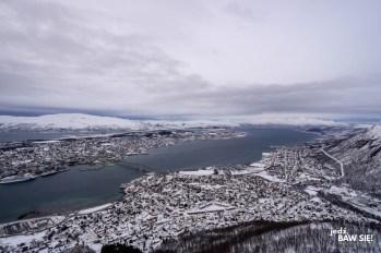 Floya - widok na Tromso - wschód