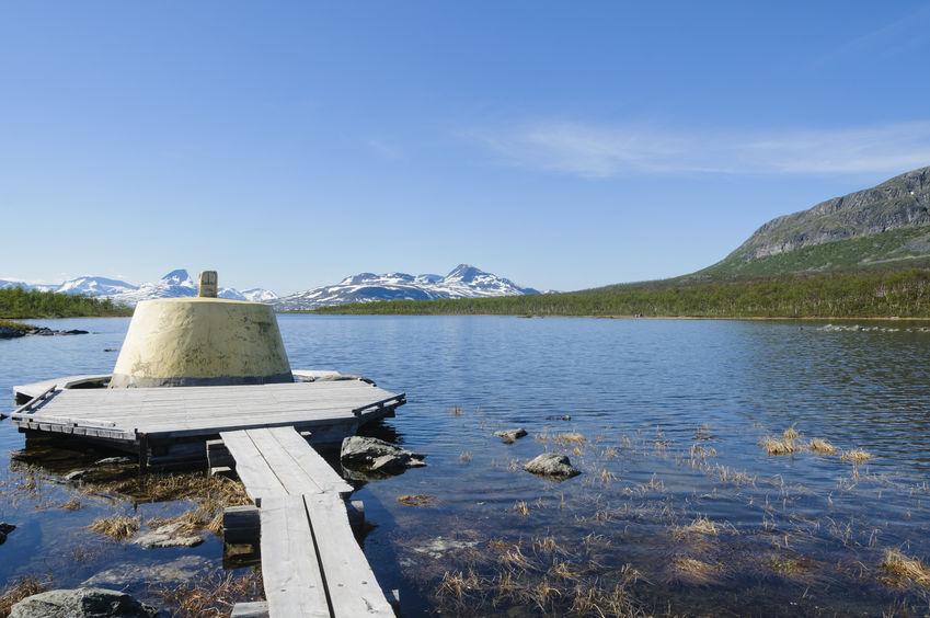 Znacznik - granica szwedzko-norwesko-fińska