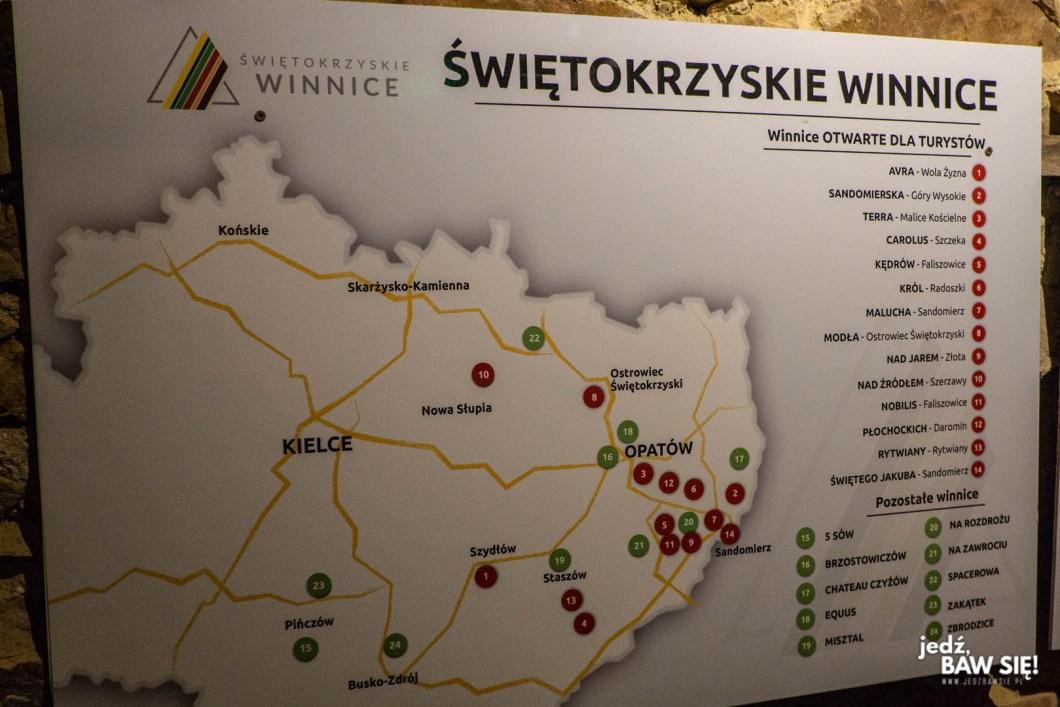 Winnice pod Opatowem - mapa
