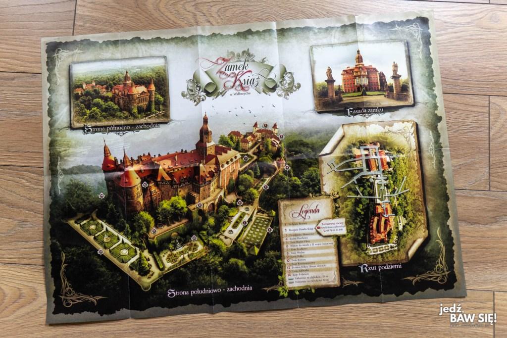 Zamek Książ - mapa