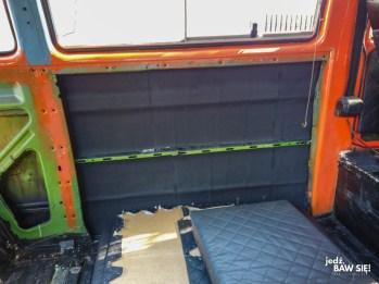 VW T3 - wygłuszenie ściany bocznej