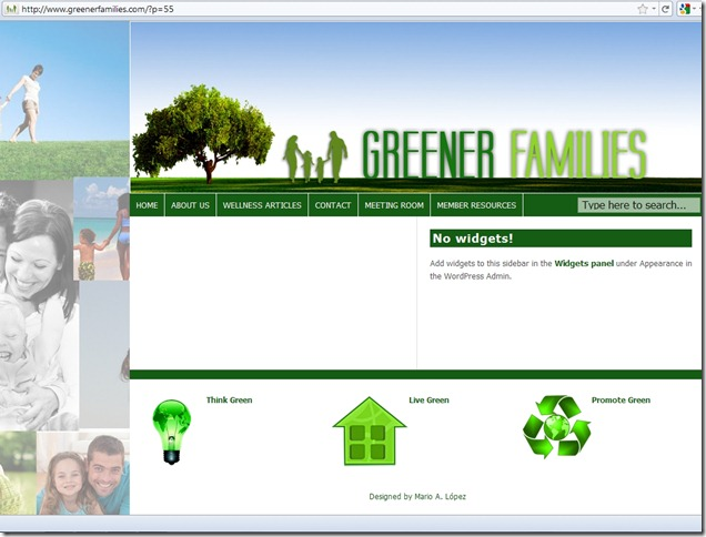 Greener Families Page for Chocolate Article Taken Down Cropped 20 May 2011