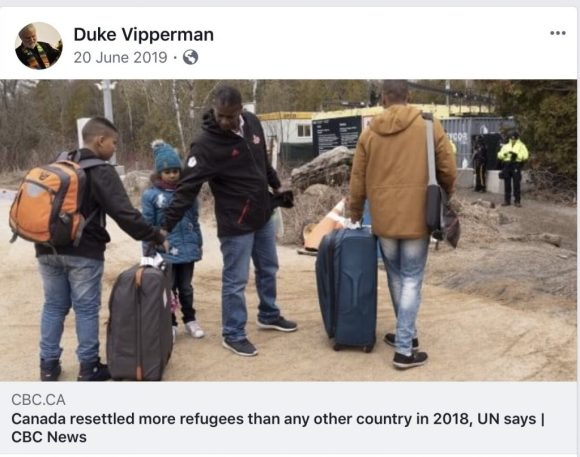 Canada resettled more refugees than any other country in 2018, UN says.