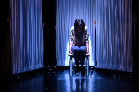 Kate alone. Production photo by Dahlia Katz.