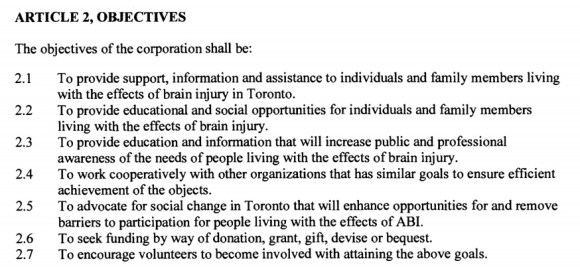 BIST bylaws article 2 objectives document from Ontario govt files