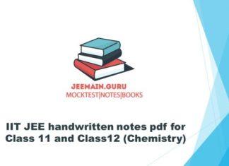 notes Archives | JEEMAIN GURU