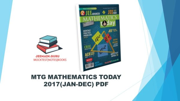 MATHEMATICS TODAY 2017