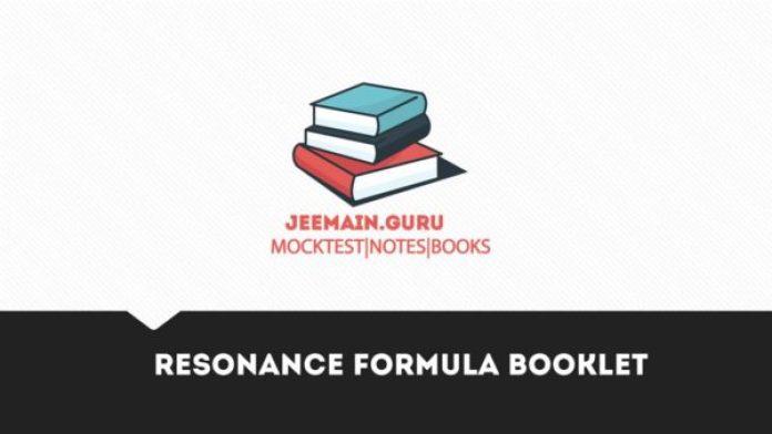 Resonance formula booklet