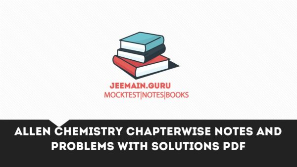 Main pdf paper with jee allen solution question