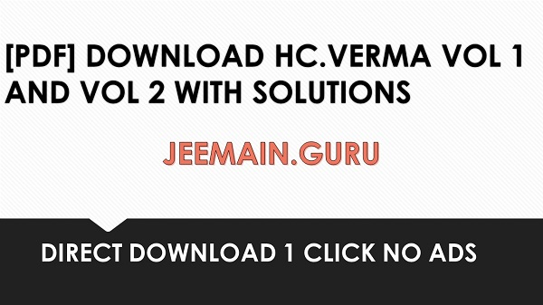 PDF] DOWNLOAD H C VERMA VOL1 AND VOL2 WITH SOLUTIONS