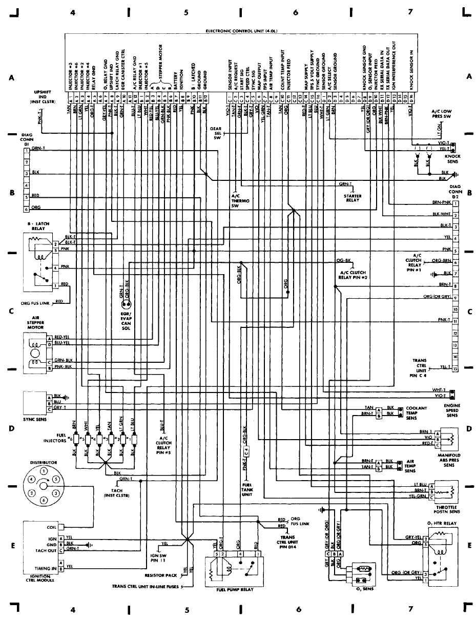 1988 Jeep Cherokee Injector Wiring | Wiring Diagram  Jeep Cherokee Wiring Diagram on
