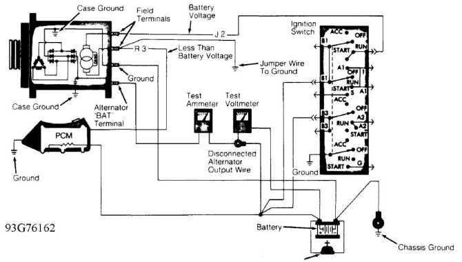 1997 jeep 4 0 alternator wiring diagram  description wiring