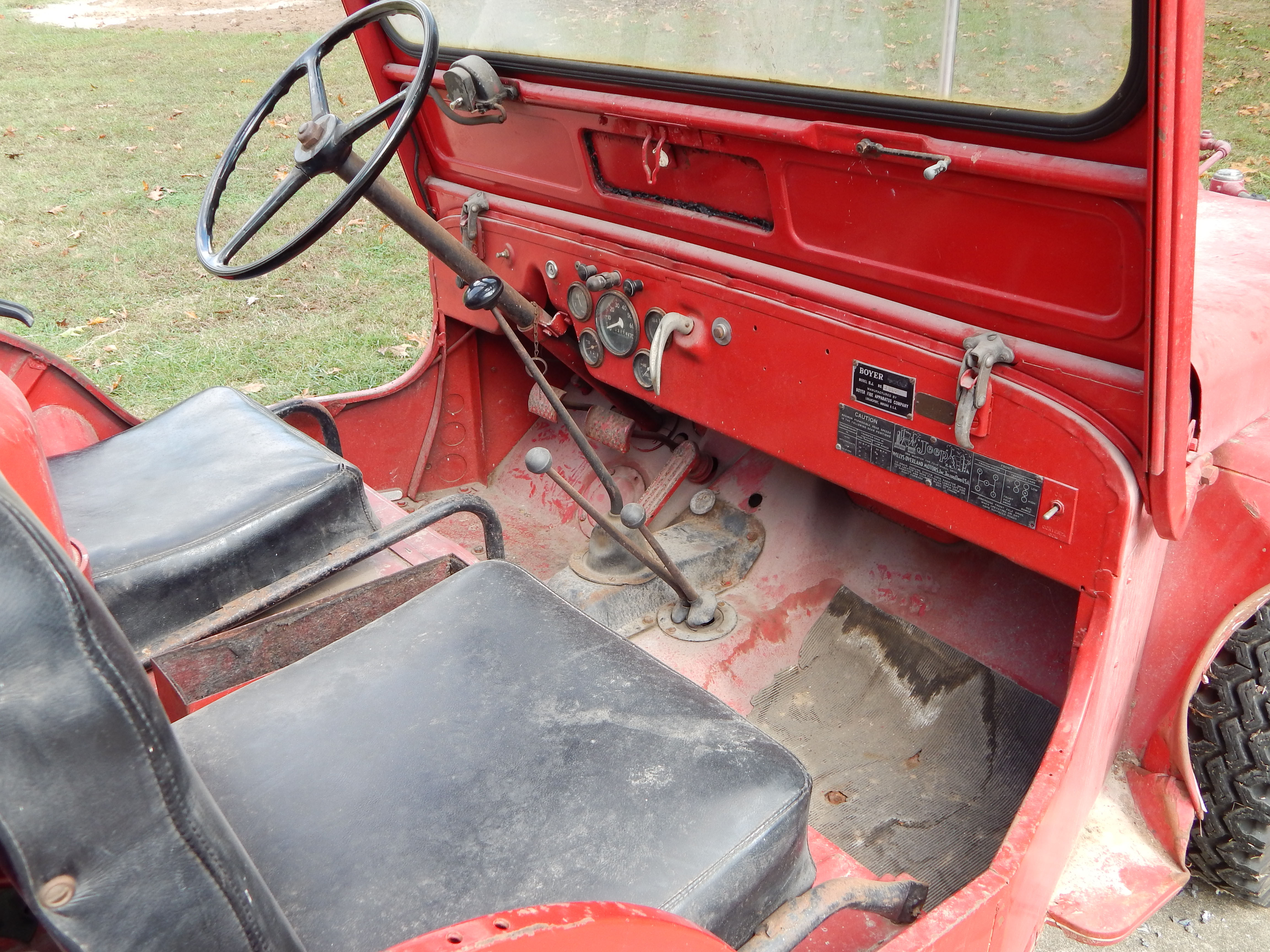 1949 Willys Cj3a Fire Engine Jeep Boyer Conversion Very