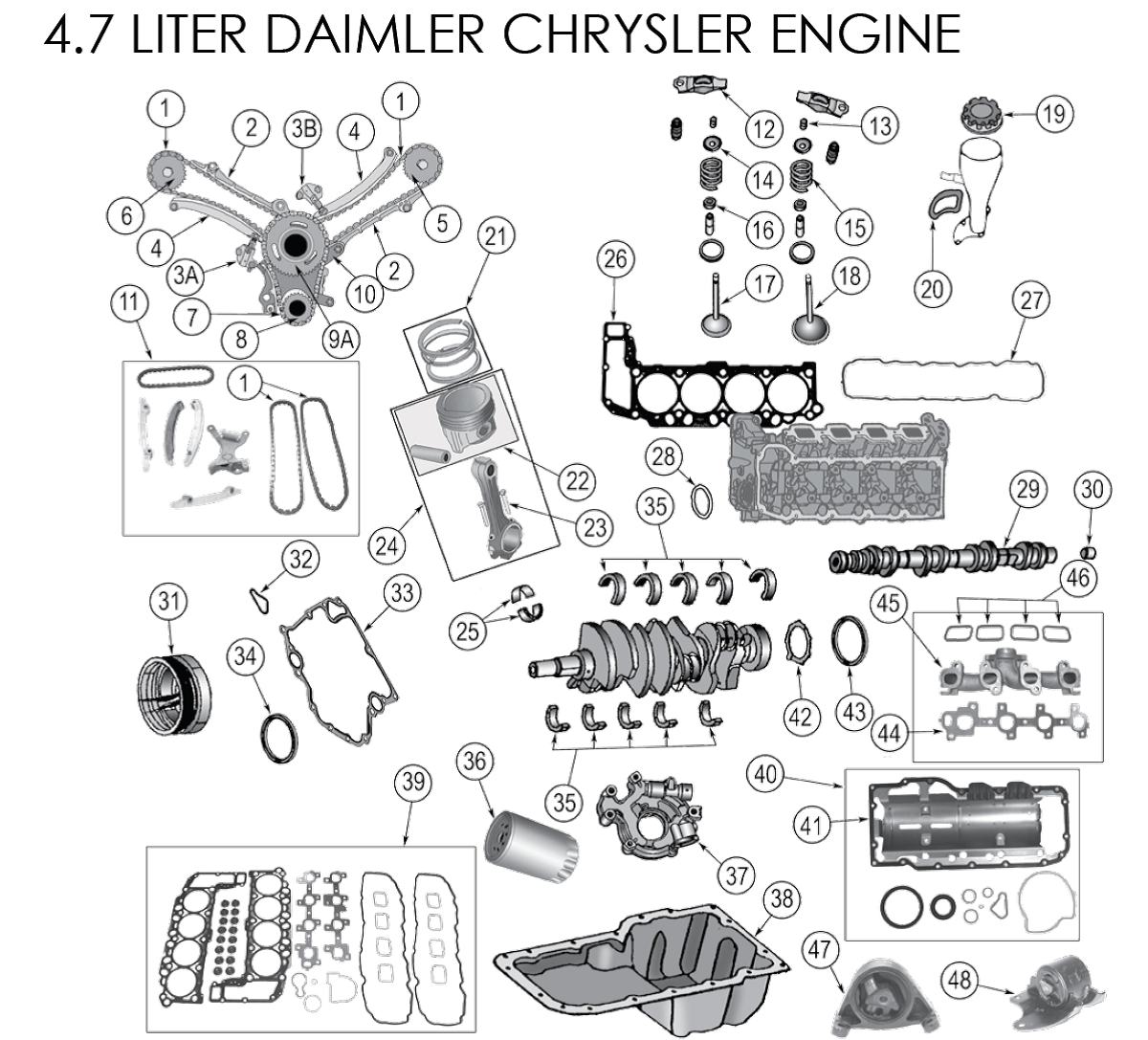 Secondary Timing Chain Guide 4 7l Aa
