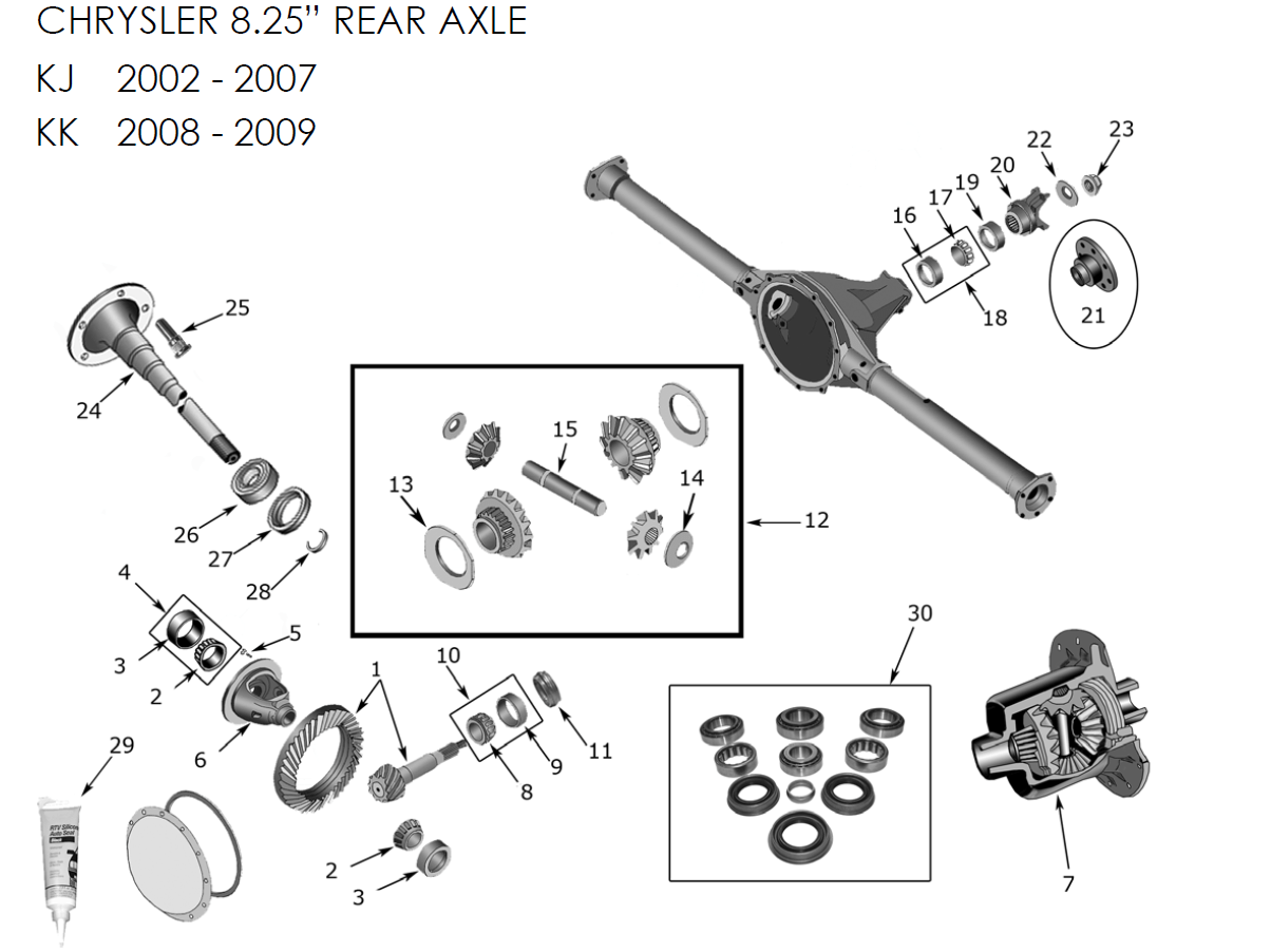 Axle Shaft Seal Chrysler 8 25 Ab
