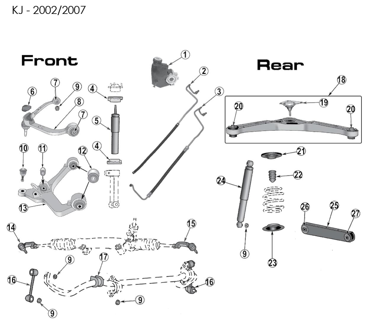 Front Upper Control Arm Bushing Kj Ab