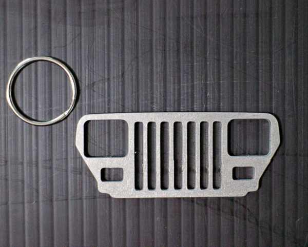 JeepMafia YJ Wrangler Keychain with ring