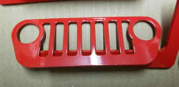 JL Wrangler Jeep Foot Pegs Red Pic 2