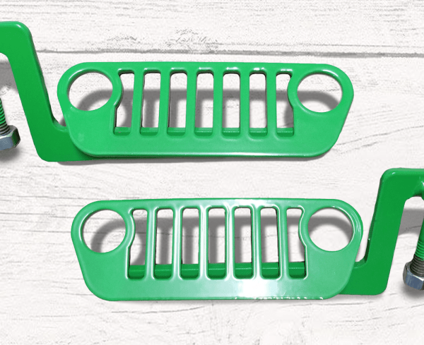 JL Wrangler Jeep Foot Pegs Green
