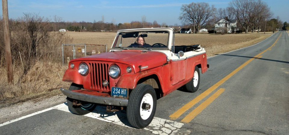 Warm February = Jeepster time!