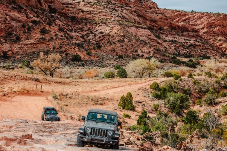 Jeep Tours Colorado Native Jeeps Wheeling with a stock jeep