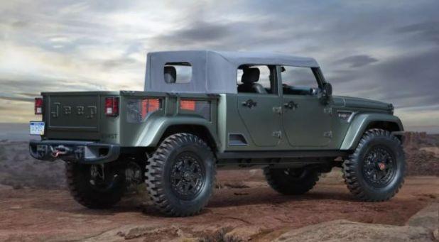 2019 Jeep Wrangler Pickup Truck rear