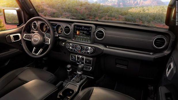 2020 Jeep Wrangler PHEV interior