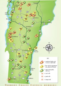 Vermont cheese trail map