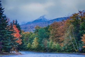 Even in the rain the peak fall colors were clearly evident at dawn