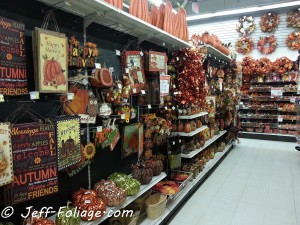 The isles are full of atumn with both halloween and harvest themes