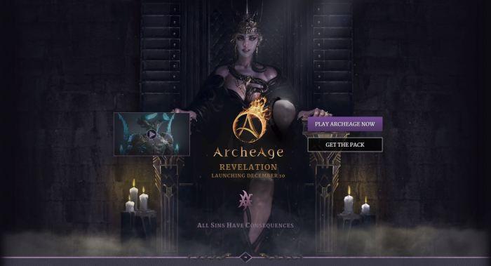 ArcheAge 3.5 Landing page