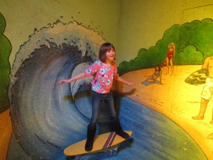 Surfer Madison- we went to this place called Funville where they could pretend to be different things