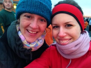 Joanne and I before the Turkey Trot