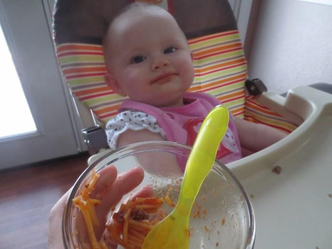 Spaghetti is so fun!